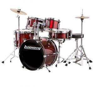 euromusica_Bateria Acústica LR-1525 Crimson Red - Ludwig